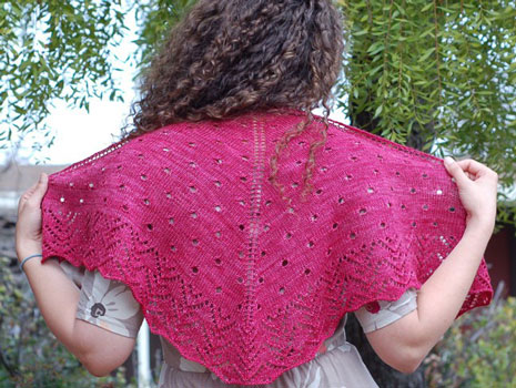 Raindrops on Roses Shawlette By Irish Girlie Knits
