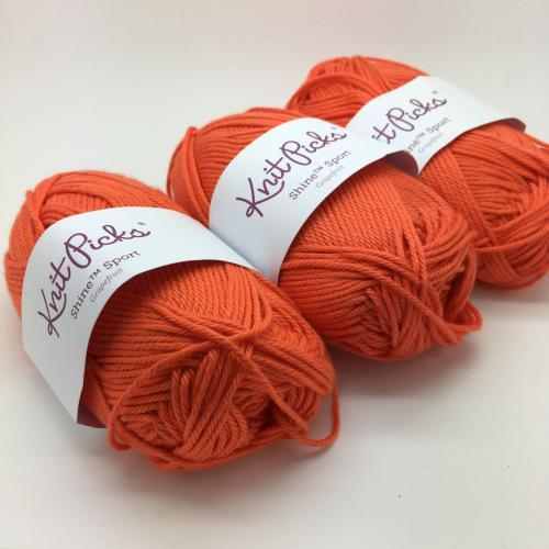 KnitPicks Shine Sport - Grapefruit Pack of 3