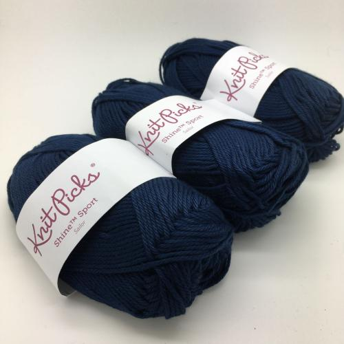 KnitPicks Shine Sport - Sailor  Pack of 3