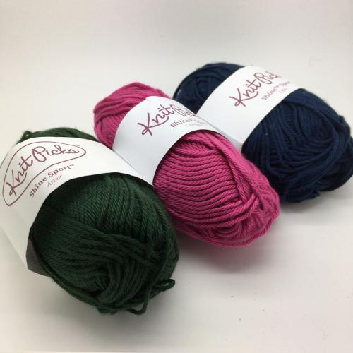 KnitPicks Shine Sport - Mixed Pack of 3