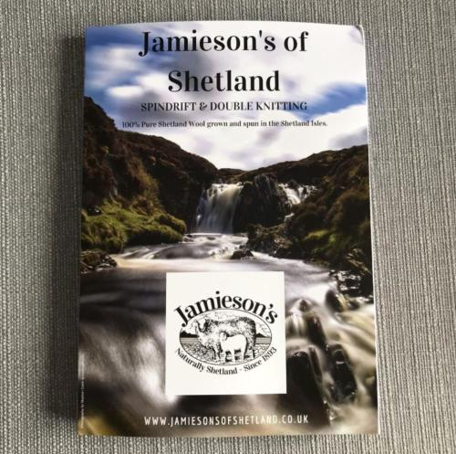 Jamieson's Spindrift 4 ply /Double Knitting Shade Card